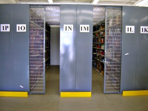 Restricted Access Shelving with Locking Gates