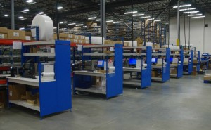 Rows of Customized Workbenches
