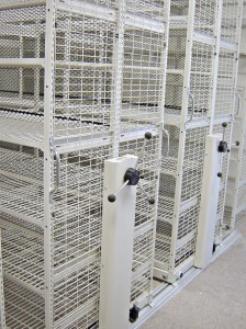 Mobile Storage with Wire Shelving