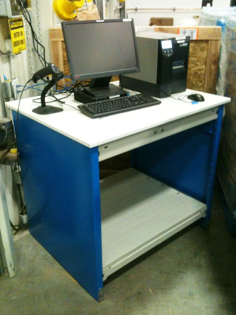 Workbench with Computer